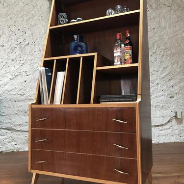 Mid century bookshelf Italian modern bookshelf mid century record cabinet by VintaDelphia