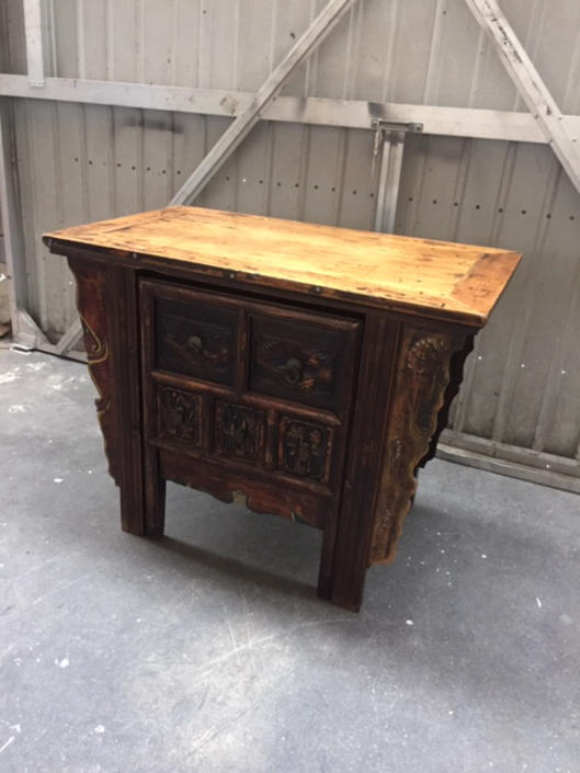 Unique Asian Cabinet AND Desk in one