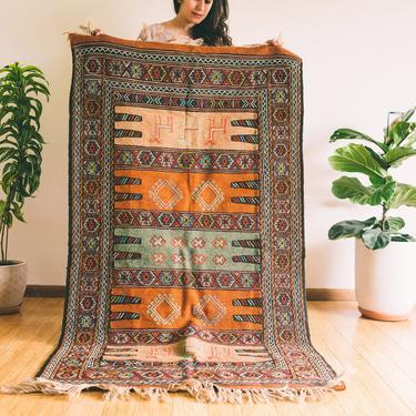 Baharak - Qashqai Tribal Wool woven Persian Kilim - Handmade (Free shipping to USA) by KaashiFurniture