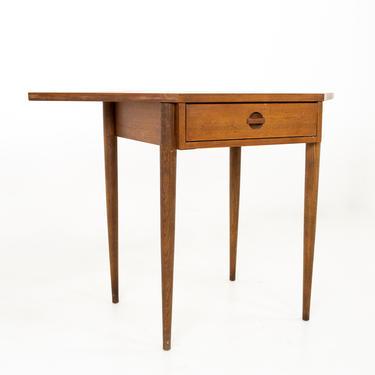 Bassett Mid Century Walnut Corner Table Desk - mcm by ModernHill