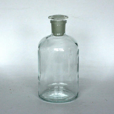 vintage pyrex kimax 34 lab apothecary bottle glass stopper by suesuegonzalas