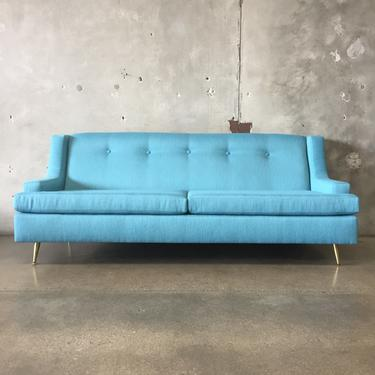 Vintage Mid Century Sofa with New Foam And Upholstery