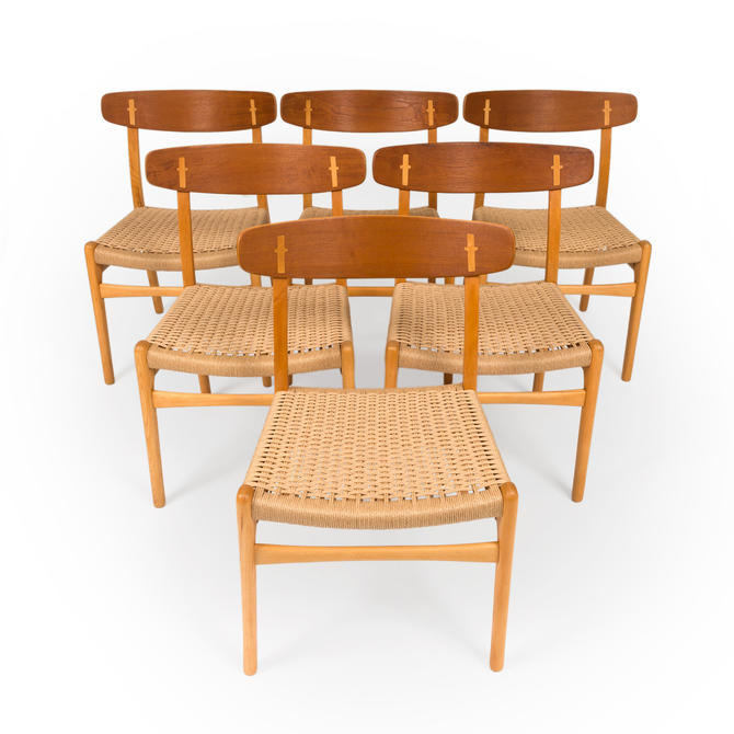Vintage Hans Wegner CH23 Dining Chairs by Carl Hansen 1960s (Set of six ) by MCMSanFrancisco