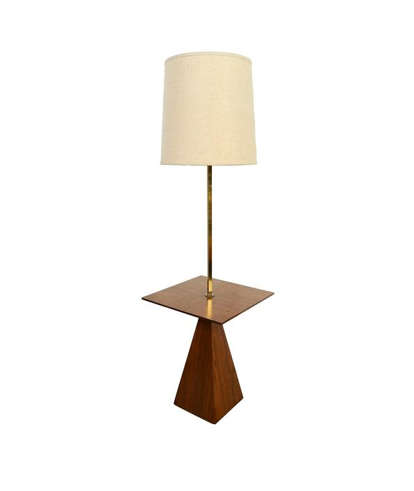 Rosewood Floor Lamp Lamp Table Mid Century Modern by HearthsideHome