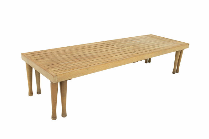 Brown Saltman Mid Century Expanding Bench - mcm by ModernHill