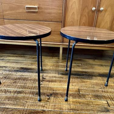 Pair of Stacking Round Side Tables