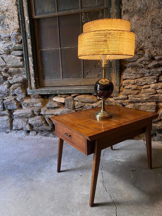 Mid century table lamp atomic lamp mid century modern lamp by VintaDelphia