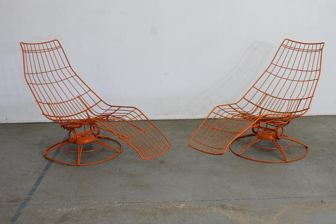Pair-Mid-Century Modern Bottemiller  Siesta Chaise Lounge Chairs by AnnexMarketplace