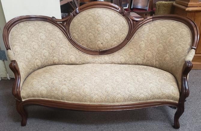 DMC Walnut Victorian Sofa c.1900's