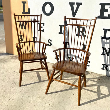 Handcrafted High Back Windsor Chairs