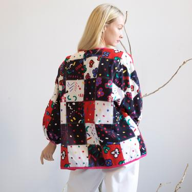 Quilted Patchwork kimono jacket / S M by EELT