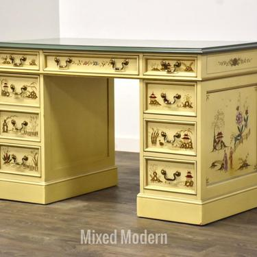Sligh Lowry Asian Inspired Double Bank Desk by mixedmodern1
