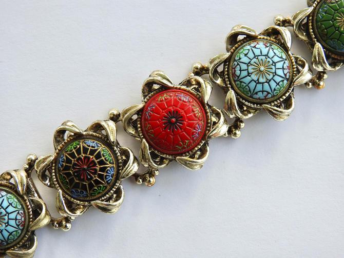 Book Chain Pressed Glass Bracelet by LegendaryBeast