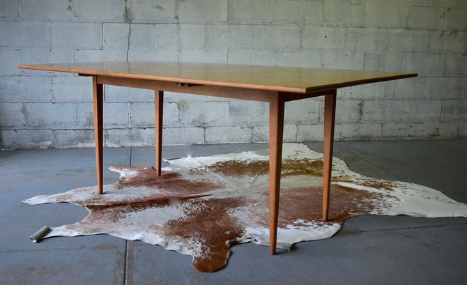 Mid Century MODERN Solid Maple Drop Leaf DINING Table Extendable by CIRCA60