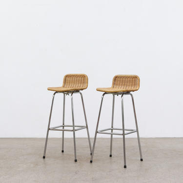 Pair of Charlotte Perriand Style Bar Stools