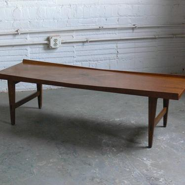 Mid Century Modern Lane Acclaim Lane Coffee Table w/ Inlaid Rosewood Leaves by CoMod
