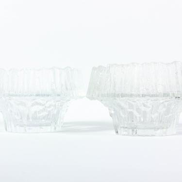 Pair of Stellaria Candle Holders - Iittala Finland Tapio Wirkkala - Mid Century Modern Scandinavian Glass Candleholder by ThePapers