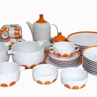 POP Modern Mondial Plus Dinnerware Set by Wolf Karnagel for Rosenthal China Germany 1973