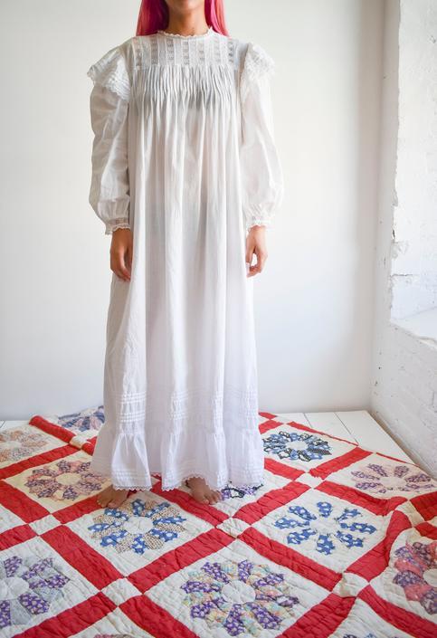 White Cotton Lace Edwardian Inspired Dress by milkandice