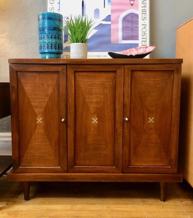 "Rare American of Martinsville ""Accord"" Small Inlaid Cabinet"