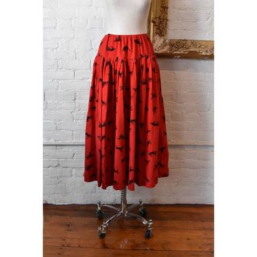 1980's | Norma Kamali | Horse Print Skirt by LadyofLizard