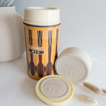 Rare 1971 Thermos brand Pint Size insulated container/ thermo/boho/vintage/MCM/food storage/ drink by BlushandIvyDesign