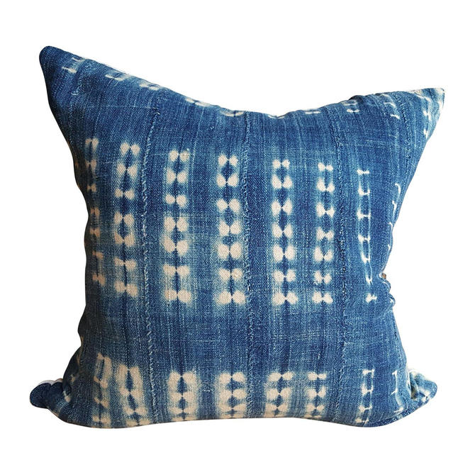 Indigo African Mud Cloth Pillow 24 Quot X 24 Quot From Spilled