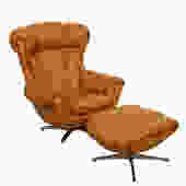 Big Comfy Mustard Chair + Ottoman