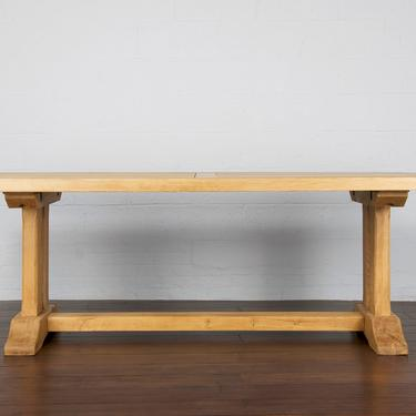 Antique Country French Farmhouse Oak Trestle Dining Table by StandOutSpaces