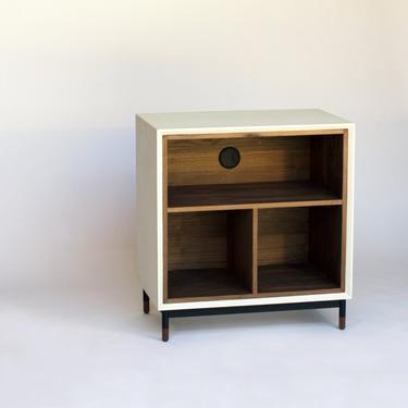 Walker Modern Concrete Media / Record Cabinet And Shelf by CrumpandKwash
