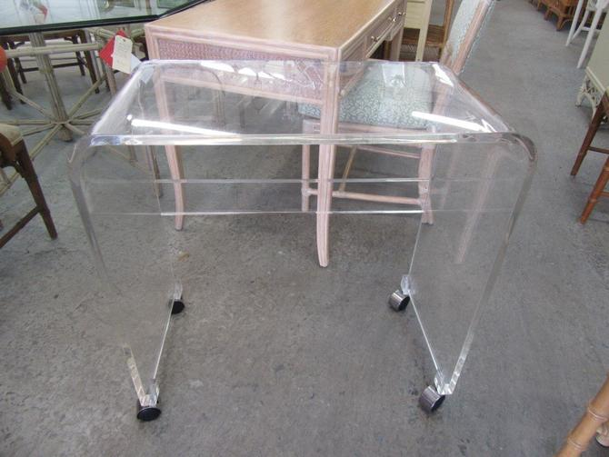 Waterfall Lucite Rolling Cart