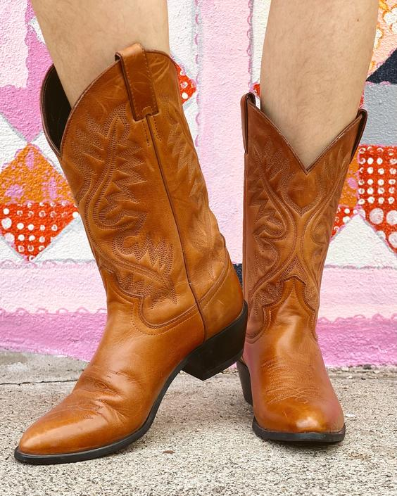 Caramel Brown Justin Cowgirl Boots