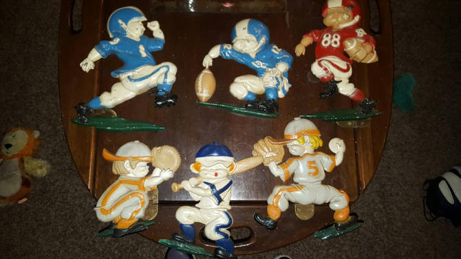 SALE! Set of 6 Vintage Homco/Sexton Childs room  Sports Wall Hangers. 1970s by MOBvintage