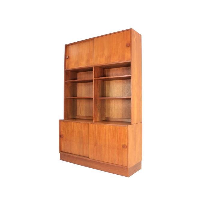 Mid Century Bookcase Display Cabinet by Domino Mobler Denmark by SputnikFurnitureLLC
