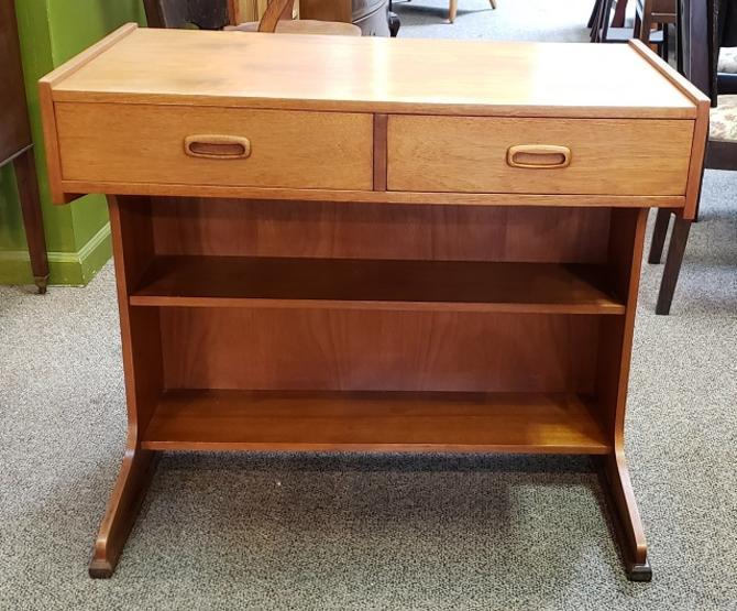 Item #R97 Mid Century Teak Desk w/ Two Drawers c.1960s