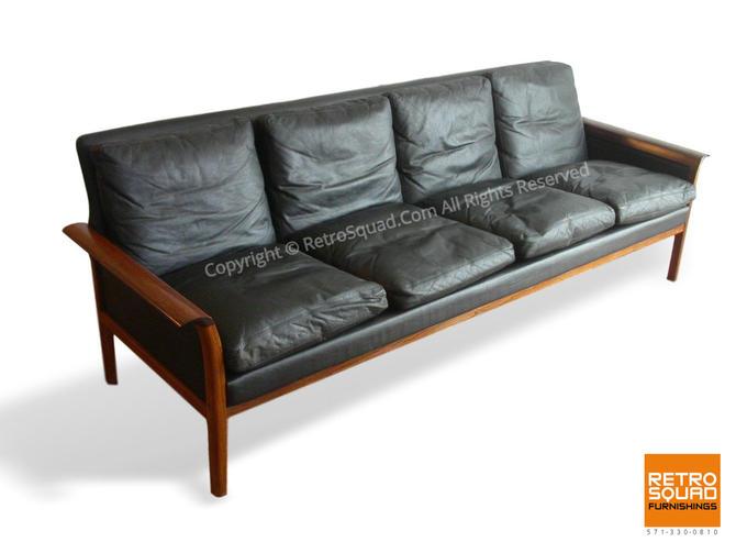 Danish Modern Brazilian Rosewood + Leather Sofa Designed Hans Olsen / Knut Saeter For Vatne Mobler Herman Miller & Knoll Mid Century Eames by RetroSquad