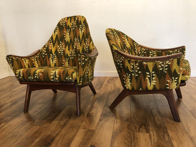 Adrian Pearsall His & Hers Lounge Chairs by Vintagefurnitureetc