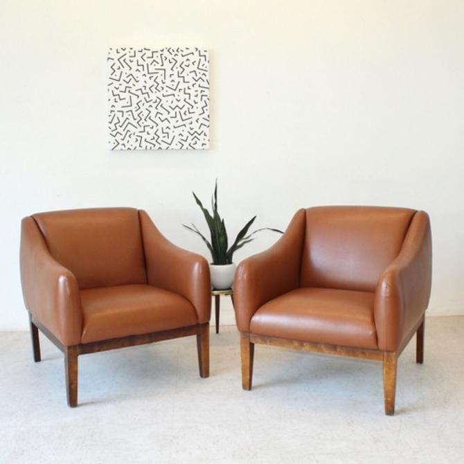 Mid Century Caramel Chair