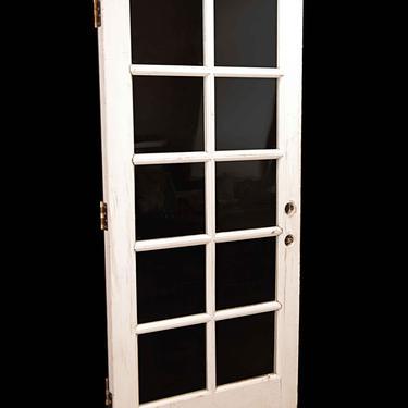 Vintage 10 Lite White Wood French Door 77 x 34.5