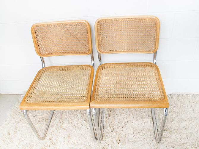 2Left! - Vintage Marcel Breuer Style Chairs with Blonde Stain and Chome Bases - Made In Indonesia (SOLD SEPARATELY) by PortlandRevibe