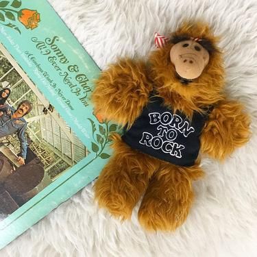 Vintage Alf Hand Puppet Retro 1980s Burger King + Alien Life Form + Born to Rock + Guitar + Extra Terrestrial + Sitcom Character + Kids Toy by RetrospectVintage215