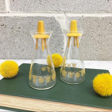 Vintage Salt and Pepper Shaker Retro 1970s Pyrex + Corelle + Harvest Gold + Floral + Butterflies +  Spice Storage + MCM + Kitchen Decor by RetrospectVintage215