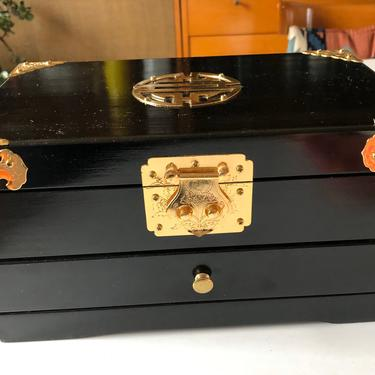 Vintage Asian Lacquer Jewelry Box by MadModWorldVintage