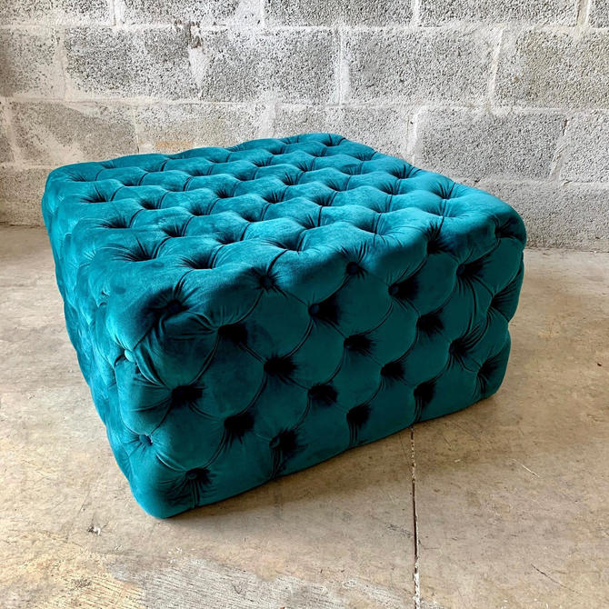 Chesterfield Footstool (PICK YOUR COLOR) Coffee Table Ottoman Velvet Vintage Furniture French Bench Vintage Rococo Baroque Interior Design by SittinPrettyByMyleen