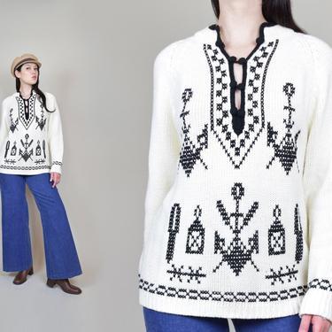 1960's Nautical Anchor Sweater   Vintage Kimlon Anchor Sweater by WisdomVintage
