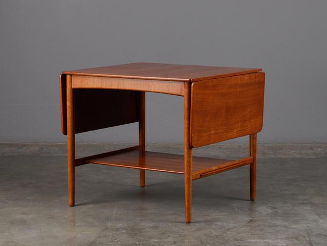 Hans Wegner Drop Leaf Coffee Table Mid Century Danish Modern Teak by MadsenModern