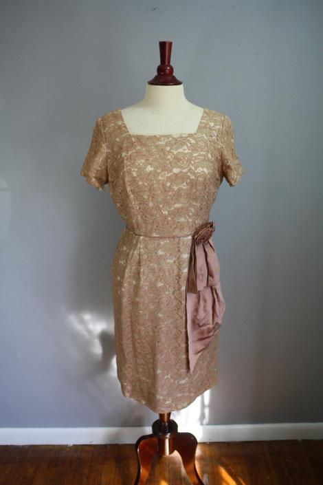 60's Dress // Lace Cocktail Dress // Large by LawrenceOfBaltimore