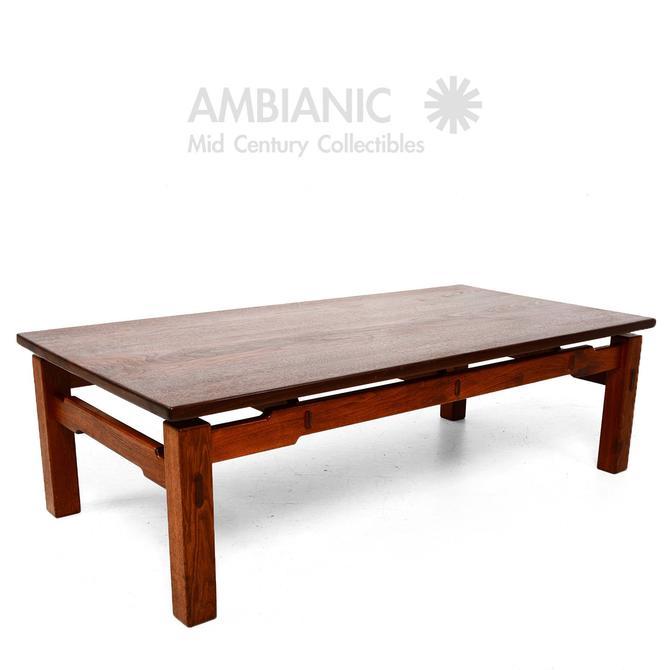 MId Century Modern Studio Solid Teak Coffee Table by AMBIANIC