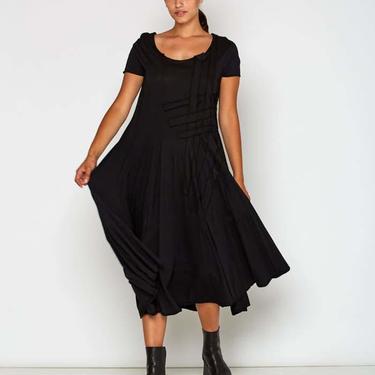 Cap Sleeve Woven Detail Dress