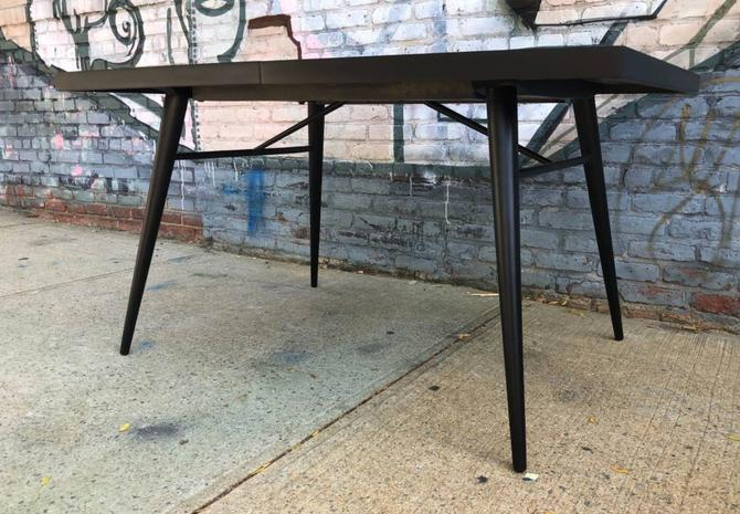 Beautiful Rare Paul Mccobb Planner group Black maple dining kitchen table mid century by symmetrymodern